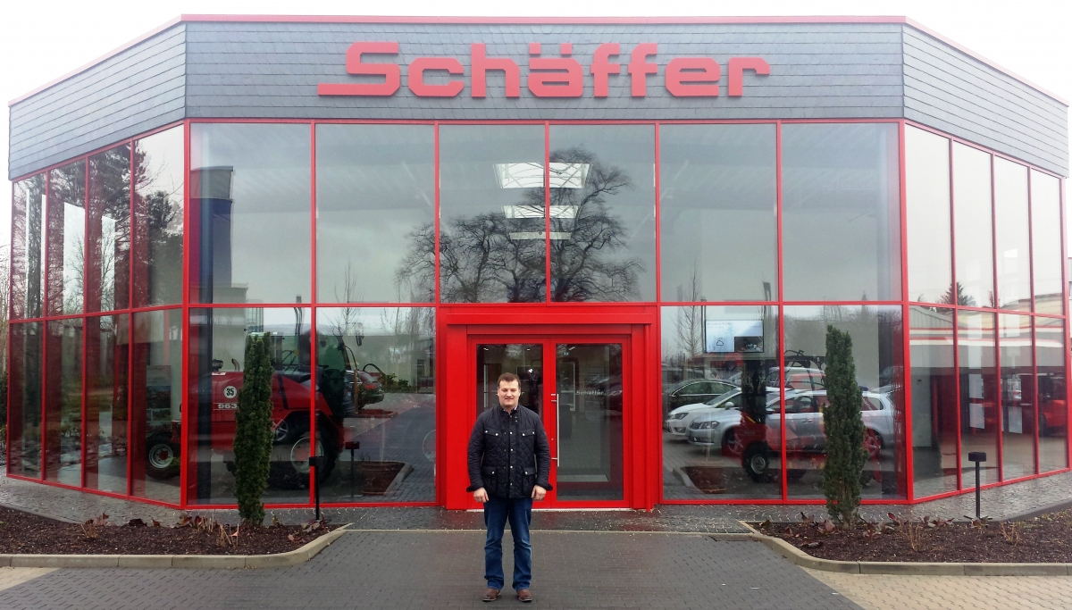 Howard Fulton pictured at the Schaffer factory in Germany